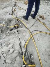 内蒙古锡林郭勒盟挖竖井破石头机械撑石机液压劈裂棒图片