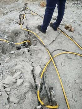 广西柳州石方开挖遇到岩石拆除破裂高效低成本液压劈裂棒