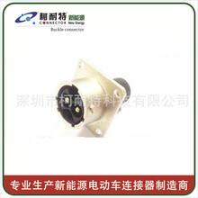 深圳厂家高压大电流连接器螺母安装插座航空插头图片
