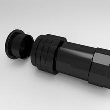 厂家生产加工水下IP67防水连接器线对板塑料防水插头插座图片