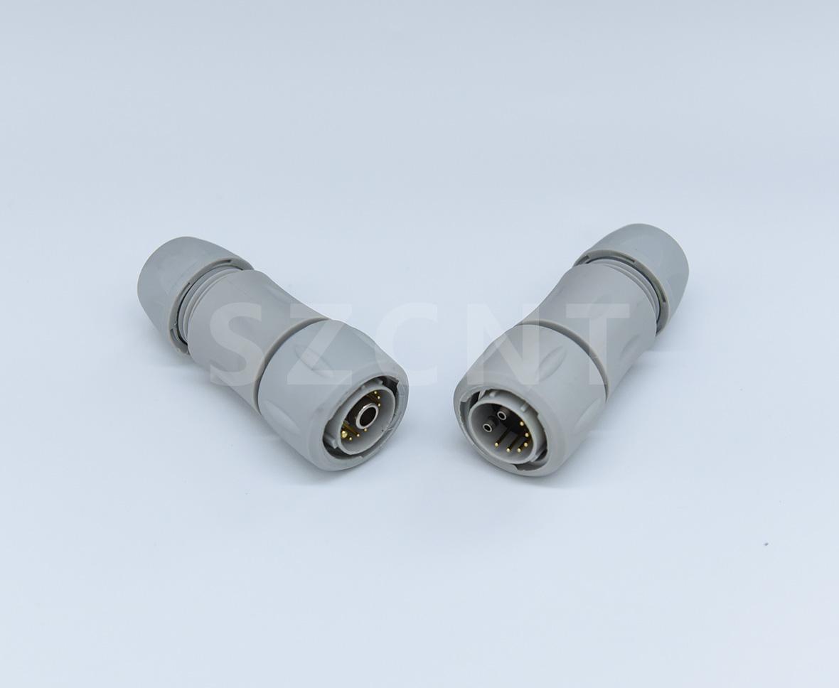 优质供应新能源轻型车辆三电系统连接器防水大电流传输直插式锁紧接插件