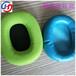 厂家生产加工彩色车缝网布耳机套入耳式海绵皮耳套吸音环保