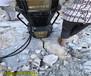 福建泉州土石方开挖破碎石头的机器
