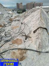 茂名市破石头不用爆破的破石机器一如何开采图片