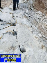 阿拉善盟开采岩石不能爆破用什么机械一成本合算图片