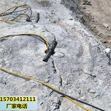 忻州市工地施工开挖地基石头破碎液压静爆石头设备精品推荐图片