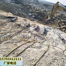 银川修路破石头开挖静态裂石设备专业破石图片