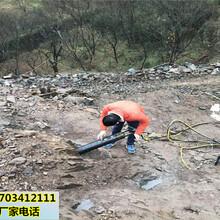 居民區施工用的靜態無飛石的開石設備劈裂機九龍坡圖片
