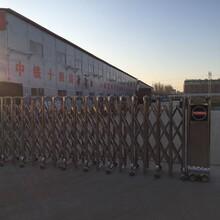 菏泽开发区铝合金电动伸缩门厂家直销图片