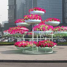 户外大型铁艺花架立体容器广场公园园林造型火炬图片