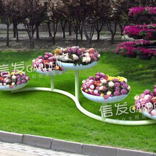 供應公園綠化立體鐵藝花架多種造型落地花架s型圖片