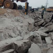 开挖石山建房不能爆破用什么机器代替放炮山西高平图片
