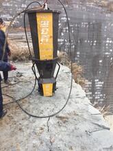 开挖石山建房不能爆破用什么机器代替放炮泸水图片