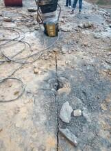 泉州安溪地基开挖遇到坚硬石头破碎锤打的慢用什么机器图片