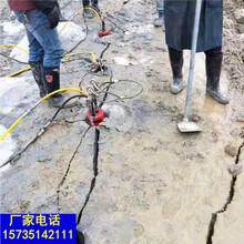 兴海花岗岩大型矿山开采设备液压开石机一劈裂棒工作原理图片