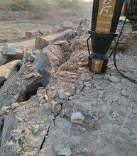 可以代替爆破不产生震动的破石头机器