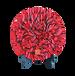 金烏炭雕凈化空氣的藝術品花開富貴