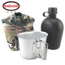 沙巴度US户外水壶野营求生水壶耐高温水壶78美军铝盒1L健身水壶图片