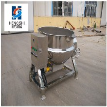 豆浆熬制夹层锅不锈钢可倾式夹层锅价格电加热蒸煮锅厂家图片
