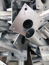 護欄底座電線桿底座鋼板立柱焊接鍍鋅欄桿預埋加工焊接圖片
