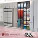 厂家供应全铝卧室家具现代平开门全铝衣柜可定制全铝衣柜新款式