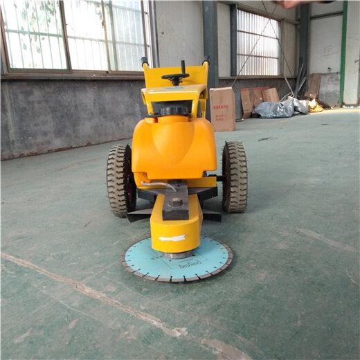手推式切桩机混凝土桩头截断锯断机汽油路面切桩机