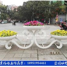 中祥云---立体花架园林雕塑铁艺花架防腐木PVC组合超大花箱图片