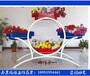 四体合一---铁艺花架广场景观大型雕塑组合花盆防腐木PVC花箱