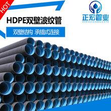 300市政排水管厂家直销青岛HDPE双壁波纹管图片