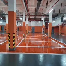 來賓地下車庫環氧砂漿自流平地坪漆價格_聚氨酯環氧地坪漆圖片
