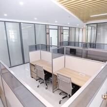 東莞厚街辦公室隔斷,中空玻璃百葉隔斷價錢圖片