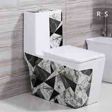 连体座便器几何彩色马桶高档方形彩色马桶欧式陶瓷大马桶座便器图片