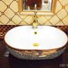 2018新款陶瓷大容量洗手盆高档电镀盆耐用陶瓷洗手盆