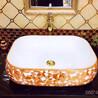 卫生间台上电镀彩色艺术盆洗手盆陶瓷洗脸盆