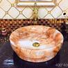 卫浴陶瓷橘色洗手盆圆形台面盆陶瓷彩色艺术盆