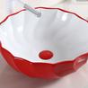 畅销红色洗脸盆创意个性洗手盆台上陶瓷彩色洗手盆面盆