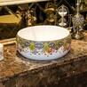 欧式彩金小尺寸洗手盆彩色台上洗手盆陶瓷洗手盆洗漱盆