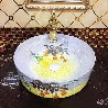 卫浴彩色陶瓷盆圆形艺术盆手绘洗脸盆彩金圆形艺术洗脸盆