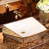 电镀金色洗手盆陶瓷创意金色洗手盆台面金色盆高档特色洗手盆