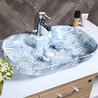 新品个性蓝色彩金盆阳台彩金盆陶瓷彩金洗手艺术盆