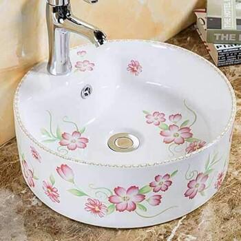 中式贴花盆