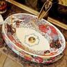 陶瓷彩金艺术盆
