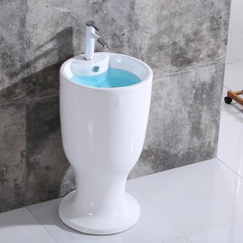 落地式一体卫生间阳台卫浴陶瓷立式大柱盆