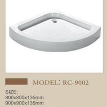 溶盛酒店扇形亞克力淋浴房底座沐浴盤圖片