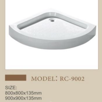 溶盛酒店扇形亞克力淋浴房底座沐浴盤