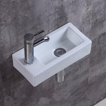 简易小户型挂墙盆陶瓷小方形挂式挂墙洗脸盆挂盆