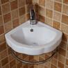 酒店工程小尺寸角落小体积挂式迷你盆陶瓷洗手盆