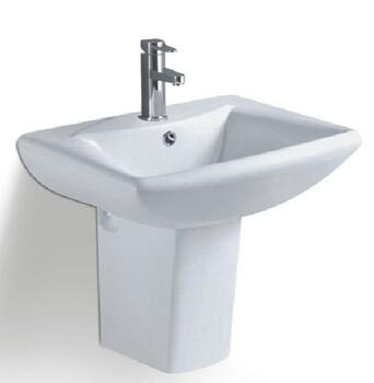 挂墙式台上陶瓷方形简约挂墙盆卫生间分体出口畅销款式盆