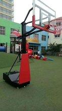 室外儿童升降篮球架安装完成