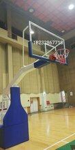 手动液压篮球架-奥帅体育保质保量安装调试完成